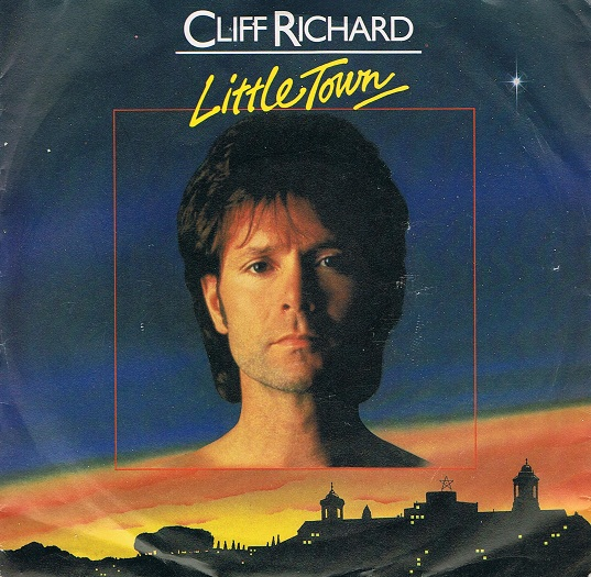 "CLIFF RICHARD Little Town 7"" Single Vinyl Record 45rpm EMI 1982"