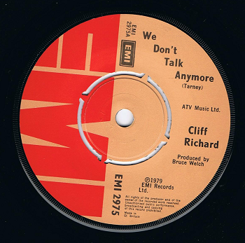 CLIFF RICHARD We Don't Talk Anymore Vinyl Record 7 Inch EMI 1979