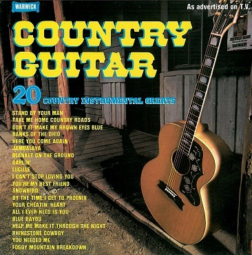 Country Guitar: 20 Country Instrumental Greats LP Vinyl Record Album 33rpm Warwick 1979
