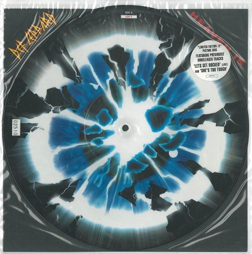 DEF LEPPARD Heaven Is Vinyl Record 12 Inch Bludgeon Riffola 1993 Picture Disc