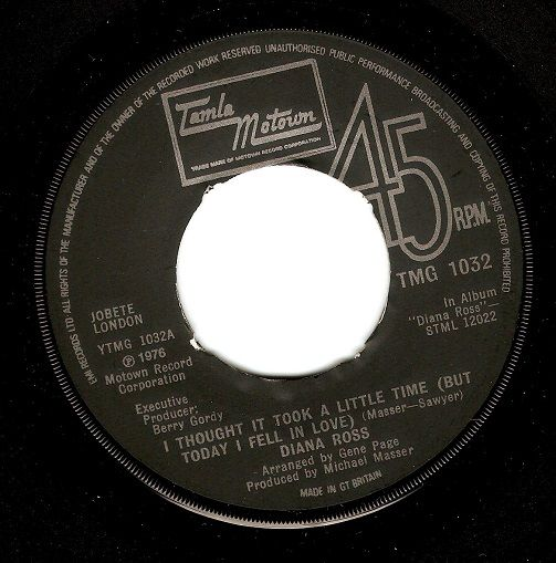 DIANA ROSS I Thought It Took A Little Time Vinyl Record 7 Inch Tamla Motown 1976