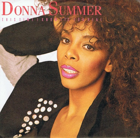 "DONNA SUMMER This Time I Know It's For Real 7"" Single Vinyl Record 45rpm German Warner Bros. 1989"