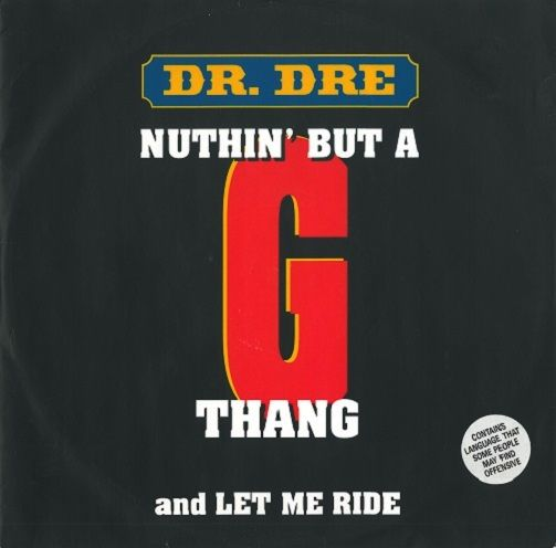 DR. DRE Nuthin' But A 'G' Thang Vinyl Record 12 Inch Atlantic 1992