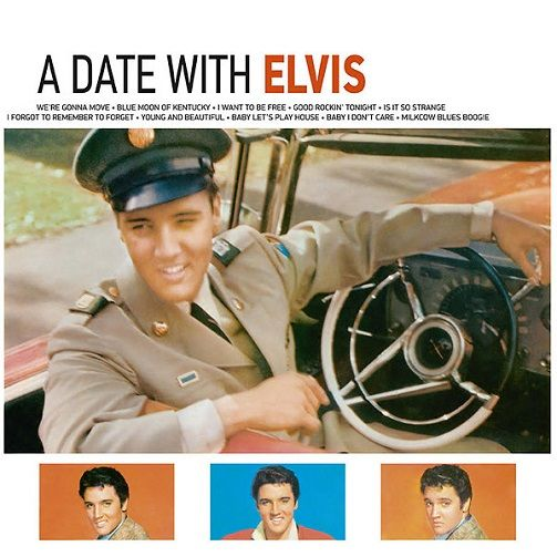 ELVIS PRESLEY A Date With Elvis Vinyl Record LP Cornbread 2017