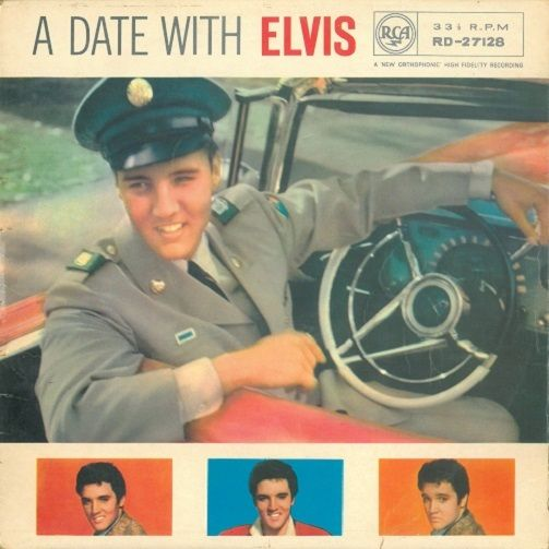 ELVIS PRESLEY A Date With Elvis Vinyl Record LP RCA Victor
