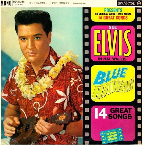 ELVIS PRESLEY Blue Hawaii Vinyl Record LP RCA Victor 1965
