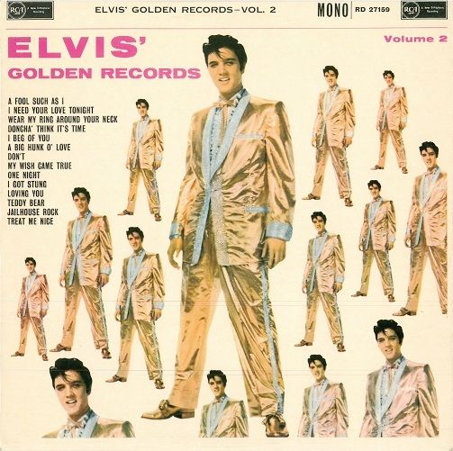 ELVIS PRESLEY Elvis' Golden Records Vol. 2 Vinyl Record LP RCA Victor 1964