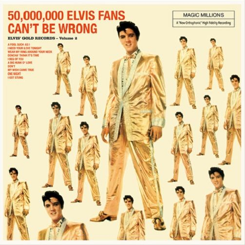 ELVIS PRESLEY Elvis' Golden Records Vol. 2 Vinyl Record LP Vinyl Lovers 2016