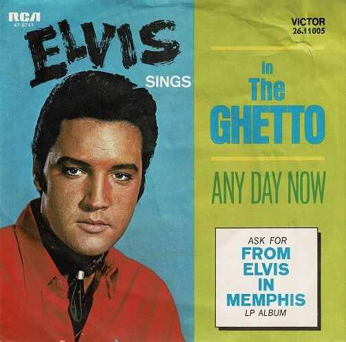 ELVIS PRESLEY In The Ghetto Vinyl Record 7 Inch German RCA Victor 1977