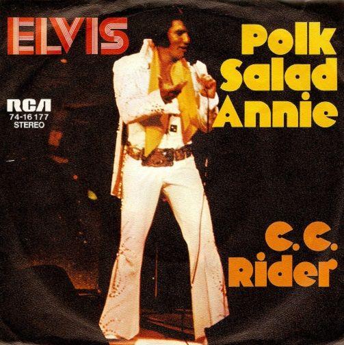 Elvis Presley Polk Salad Annie Vinyl Record 7 Inch German