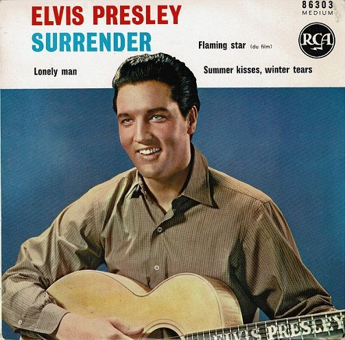 ELVIS PRESLEY Surrender EP Vinyl Record 7 Inch French RCA 1961