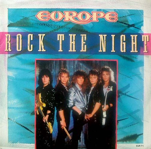 EUROPE Rock The Night Vinyl Record 12 Inch Epic 1986