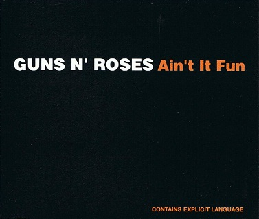 GUNS N' ROSES Ain't It Fun CD Single Geffen 1993