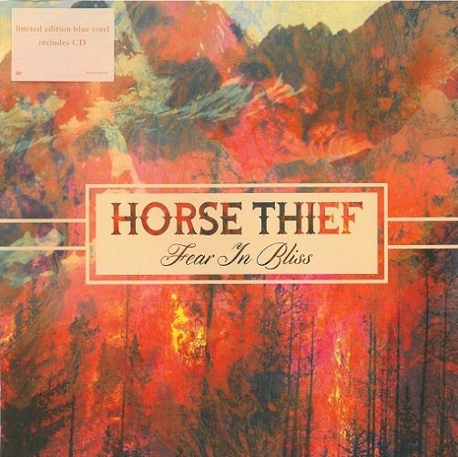 HORSE THIEF Fear In Bliss Vinyl Record LP Bella Union 2014 Blue Vinyl