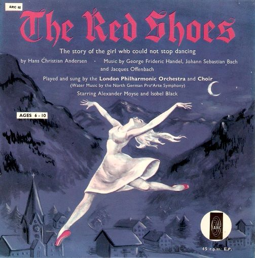 LONDON PHILHARMONIC ORCHESTRA The Red Shoes Vinyl Record 7 Inch ARC