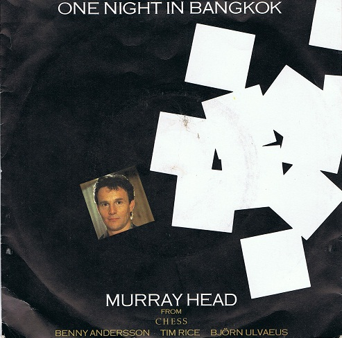 MURRAY HEAD One Night In Bangkok Vinyl Record 7 Inch RCA 1984