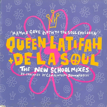 "QUEEN LATIFAH AND DE LA SOUL Mama Gave Birth To The Soul Children 12"" Vinyl Record Gee Street 1990"