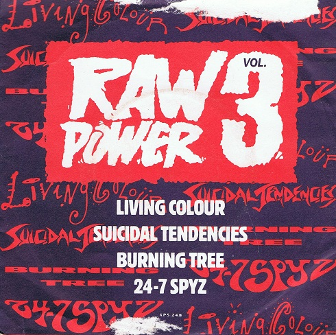 "Raw Power Vol.3 EP 7"" Single Vinyl Record Epic 1990"