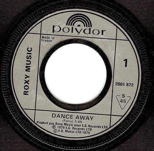 ROXY MUSIC Dance Away Vinyl Record 7 Inch French Polydor 1979