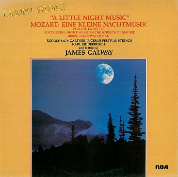 RUDOLF BAUMGARTNER / KARL RIDDERBUSCH / JAMES GALWAY A Little Night Music LP RCA Gold Seal 1973