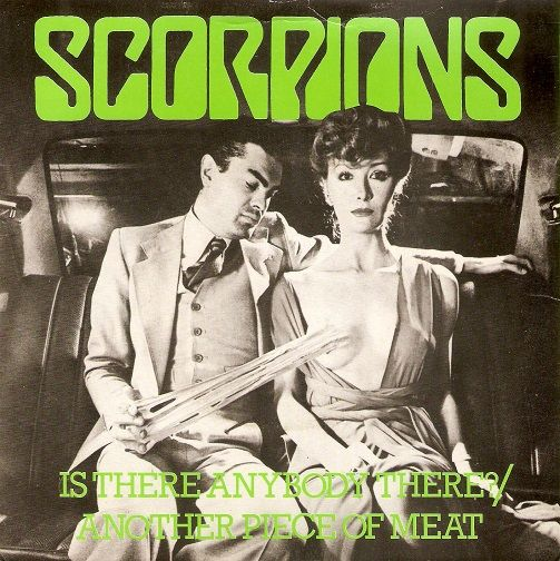 SCORPIONS Is There Anybody There Vinyl Record 7 Inch Harvest 1979 Green  Vinyl