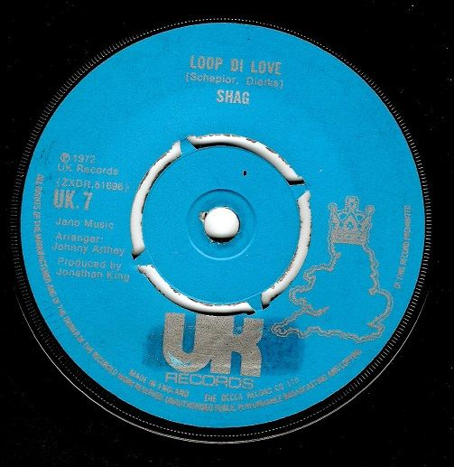SHAG Loop Di Love Vinyl Record 7 Inch UK 1972