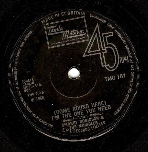 Smokey Robinson The Tears Of A Clown Vinyl Record 7 Inch
