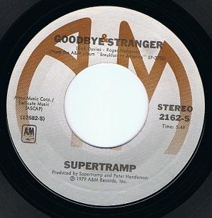 Supertramp Goodbye Stranger 7 Single Vinyl Record 45rpm Us