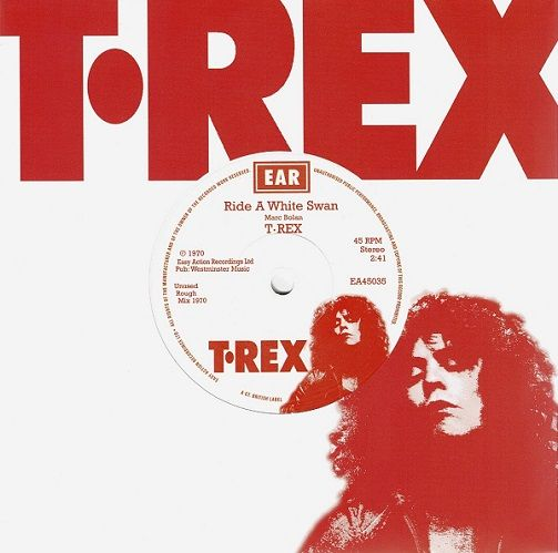 T.REX Ride A White Swan Vinyl Record 7 Inch Easy Action 2020 White Vinyl
