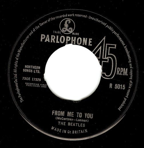 THE BEATLES From Me To You Vinyl Record 7 Inch Parlophone 1963