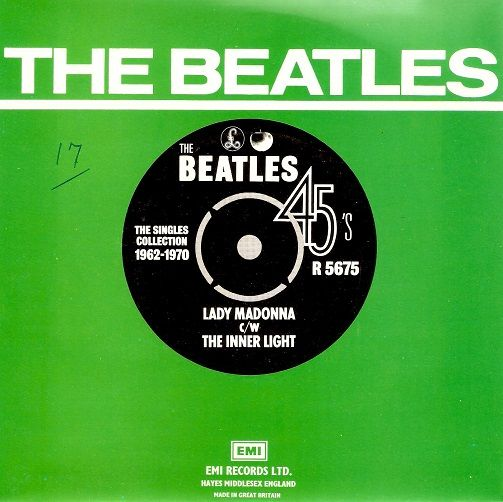 THE BEATLES Lady Madonna Vinyl Record 7 Inch Parlophone 1976