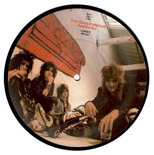 THE DOGS D'AMOUR Satellite Kid Vinyl Record 7 Inch China 1989 Picture Disc