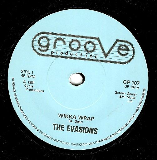 THE EVASIONS Wikka Wrap Vinyl Record 7 Inch Groove Production 1981