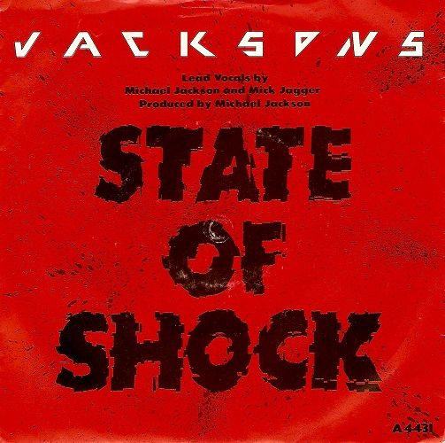 THE JACKSONS State Of Shock Vinyl Record 7 Inch Epic 1984