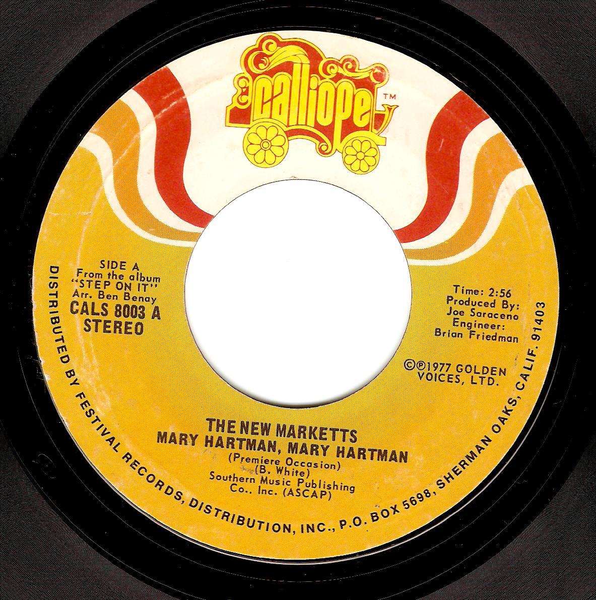 THE NEW MARKETTS Mary Hartman, Mary Hartman Vinyl Record 7 Inch US Calliope  1977