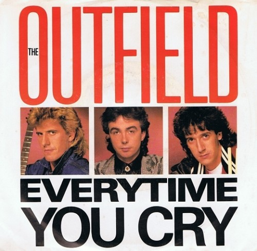 "THE OUTFIELD Everytime You Cry 7"" Single Vinyl Record 45rpm US DEMO Columbia 1985"