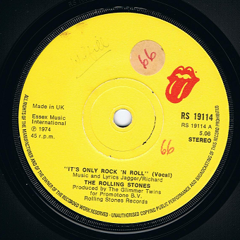 The Rolling Stones It S Only Rock N Roll 7 Single Vinyl