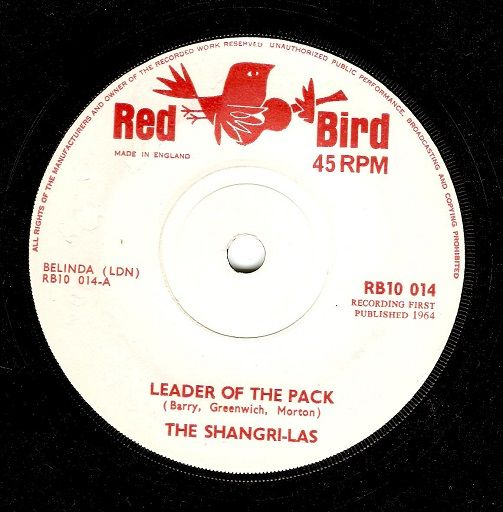The Shangri Las Leader Of The Pack Vinyl Record 7 Inch Red
