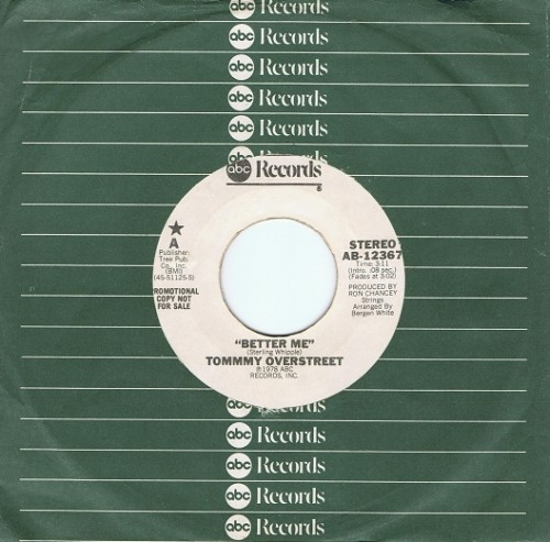 "TOMMY OVERSTREET Better Me 7"" Single Vinyl Record US PROMO ABC 1978"