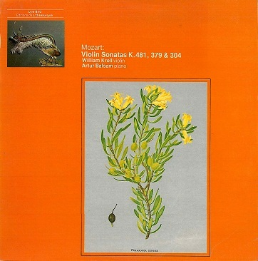 WILLIAM KROLL / ARTUR BALSAM Mozart: Violin Sonatas K.481, 379 & 304 LP Vinyl Record Album 33rpm L'Oiseau-Lyre 1974