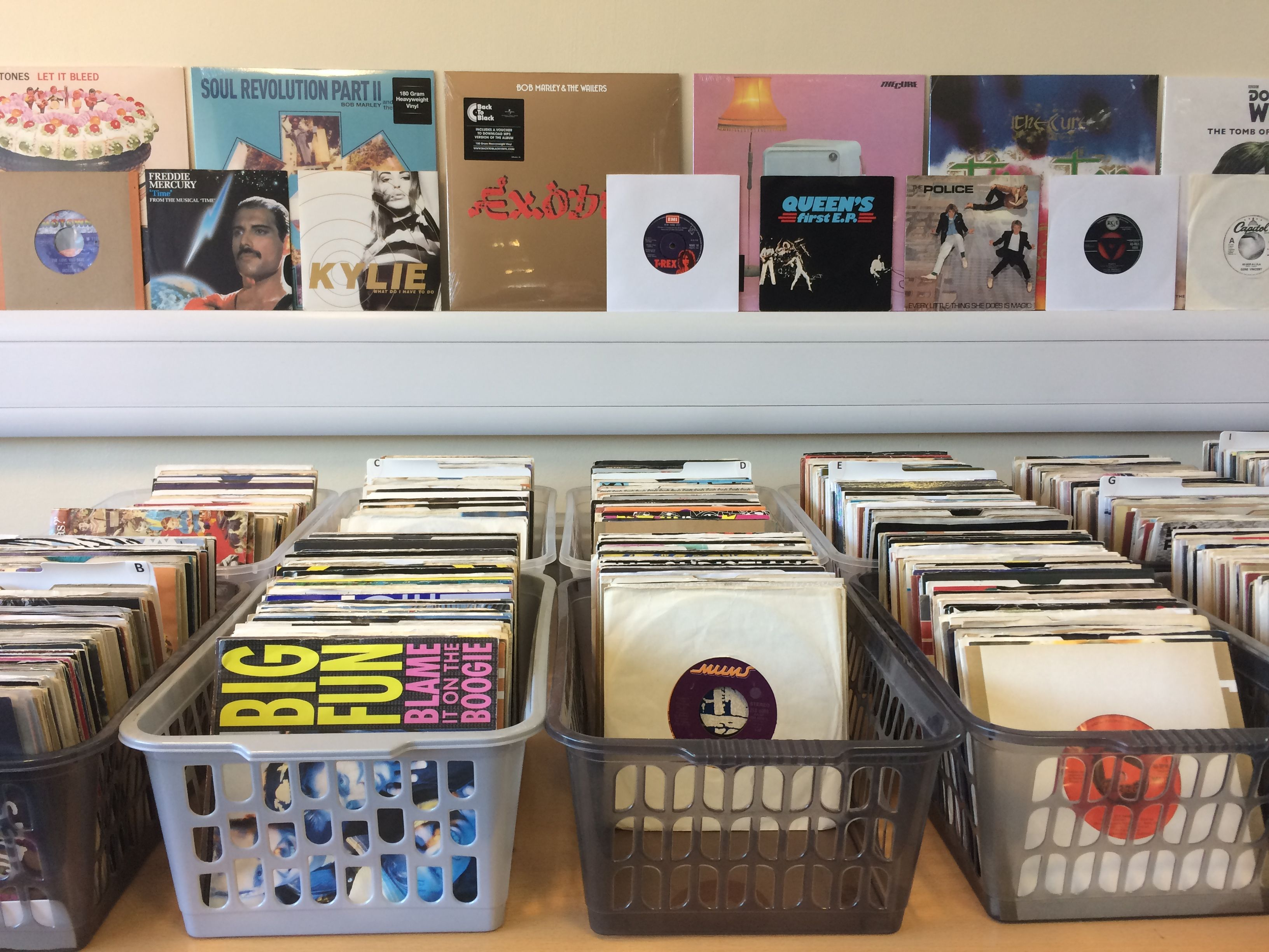 Large stock of vinyl records